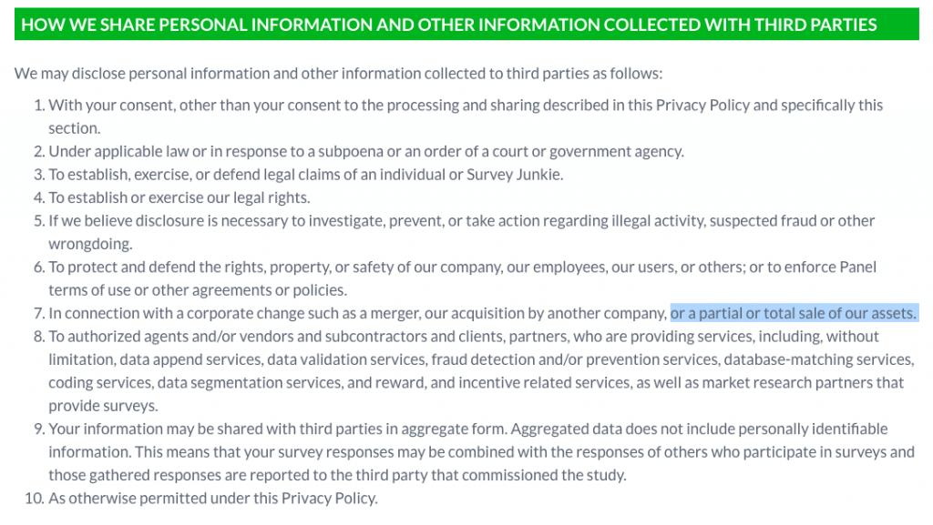 Survey Junkie Privacy Policy
