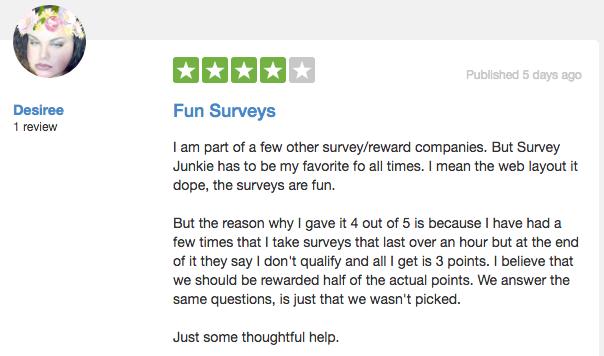 Survey Junkie Review From Trust Pilot #3